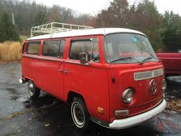 volkswagen microbus 1970 volkswagen bus with cargo luggage rack 2nd row seat red