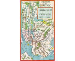 Wall Map Of New York City by Maps Of New York Detailed Map Of New York City Tourist Map