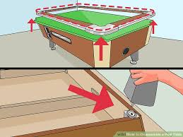 Pool Table Rails Replacement How To Disassemble A Pool Table 11 Steps With Pictures