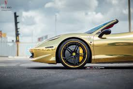 gold ferrari 458 golden ferrari 458 spider on vellano wheels autofluence