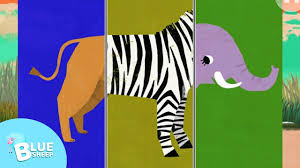 animal match up learning game for kids colour shapes sizes