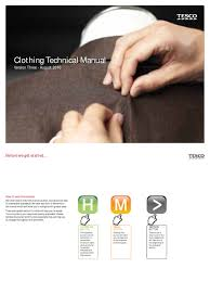 tesco clothing technical manual final3 audit textiles