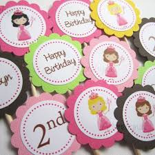 personalized cupcake toppers princess cupcake toppers adorebynat on artfire