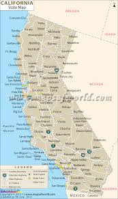Santa Barbara California Map Cities Of California Map California Map