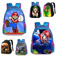 super mario bros dinosaur bags animal schoolbag kids boys