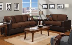2 piece modern microfiber and faux leather sofa love seat