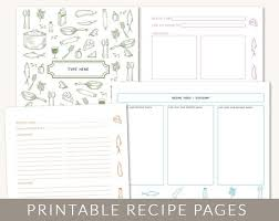 10 best images of cookbook template printable cookbook templates