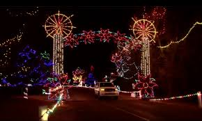 drive by christmas lights christmas in the park in yukon is the largest drive thru light show