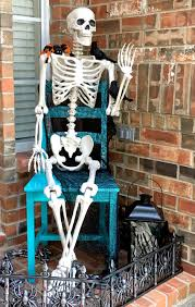 Life Size Posable Skeleton Halloween Bellagrey Designs Styling Two Spaces And Celebrating Halloween