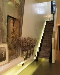 unique home ideas with led stair lighting interior using stylish