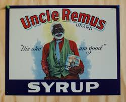 Americana Country Home Decor Uncle Remus Syrup Tin Sign Black Americana Ad Country Kitchen Home
