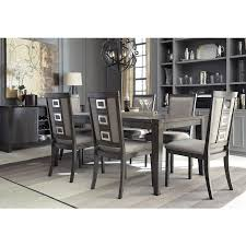 ashley dining room sets chadoni 7 piece dining set table with 6 side chairs dining