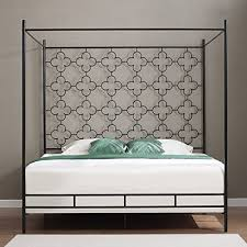 metal canopy bed frame twin full queen king kids princess