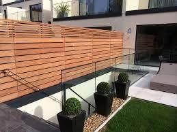 cedar slatted contemporary fencing uk based contemporary