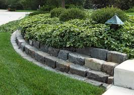 simple decoration landscape barrier fetching a curbing edge