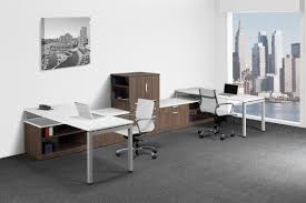 L Shaped Desk With Side Storage Images Of 2 Person White Benching L Shaped Desk With Side Storage