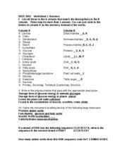 worksheet 1 answers bios 1063 worksheet 1 answers i list all
