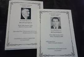 funeral booklets the krays funeral booklets order of services ronnie reggie