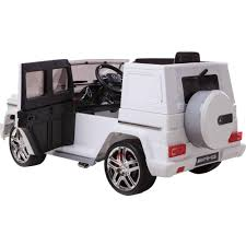 mercedes jeep white 12v mercedes benz g63 amg 1 seater battery powered ride on white