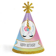 party hats rainbow unicorn cone happy birthday party hats for kids and adults