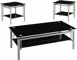 Black Glass Tables Glass Coffee Tables Fascinating Glass And Metal Coffee Tables
