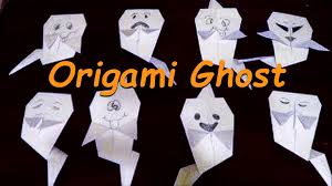 how to make a halloween ghost decoration origami ghost tutorial how to make halloween ghost youtube