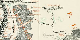 Lord Of The Rings World Map by Lord Of The Rings U0027 Map Annotated By Tolkien Found Inside