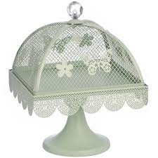 cake stand with cover mint butterfly medium display metal cake stand with mesh lid cover