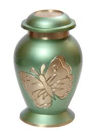 small keepsake urns mini keepsake cremation urn lite teal butterfly small keepsake urn