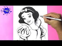 como dibujar blanca nieves 2 draw snow white como