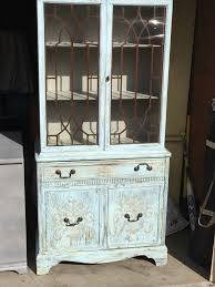 shabby chic china cabinet vintage shabby chic china hutch curio cabinet furniture in san