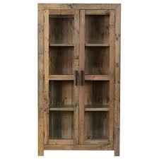 reclaimed wood curio cabinet the gray barn fairview reclaimed wood curio cabinet make soon