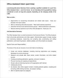 Office Clerk Job Description For Resume by Office Intern Job Description Sample Resume Cover Letter Medical