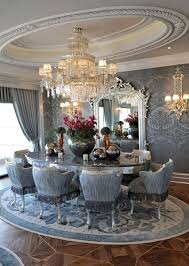 luxury dining room lámpa tükör asztal club privilege tinódi pinterest room