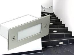 led treppe led einbauleuchten wand treppenbeleuchtung 1w 230v edelstahl