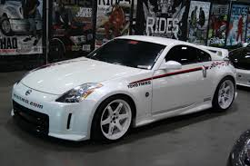 nissan 350z rims for sale nissan 350z with white volk rims 3 1 madwhips