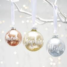 personalised glitter bauble white vinyl bubble wrap and place