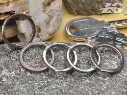 aliexpress key rings images Titanium metal key ring titanium key buckle titanium key chain in jpg