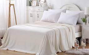 Polar Fleece Duvet Cover Amazon Com 350gsm Fleece Blankets Queen Size For The Bed Warm