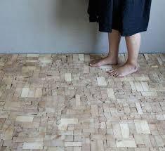 repurposed lumber mosaics wood block floor