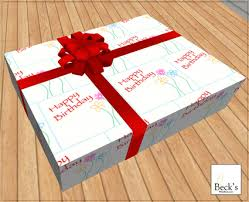 s birthday gift second marketplace happy birthday gift box from beck s
