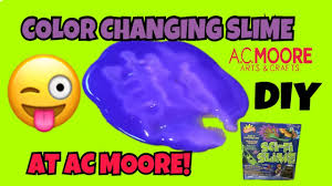 slime at ac moore diy color changing slime kit youtube