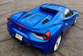cars ferrari blue ferrari 488 spider test drive