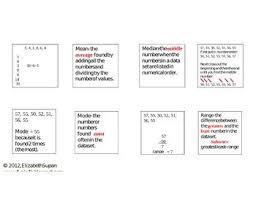 35 best education math mean median mode images on pinterest
