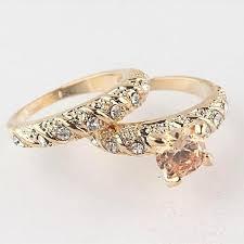 gold wedding rings sets 2pcs 18k gold filled gold engagement rings wedding ring sets