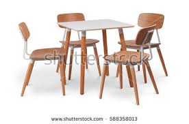 White Wooden Dining Table And Chairs Wood Chair Stock Images Royalty Free Images U0026 Vectors Shutterstock