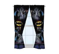 batman bedroom curtains room decor for kids dc comics polyester