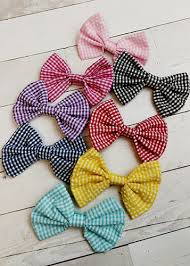 fabric bows the hair bow company checkered classic hair bows for
