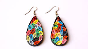 funky earrings how to make funky quilling earrings diy style tutorial