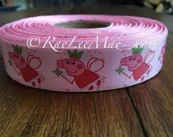 peppa pig ribbon peppa pig ribbon etsy